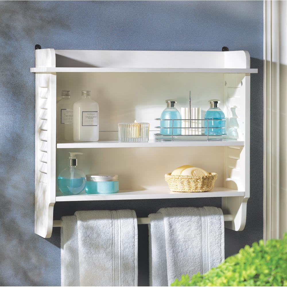 Nantucket Bathroom Wall Shelf Wooden